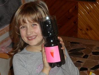 Karotte in der Flasche
